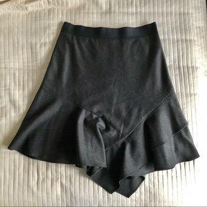Judith & Charles Solstice Peplum Wool Skirt